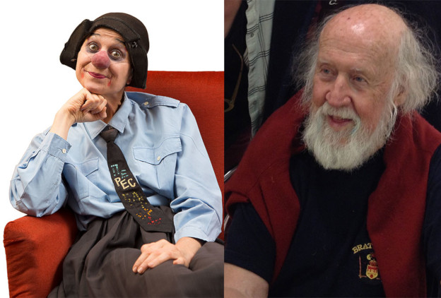 Emma la Clown et Hubert Reeves